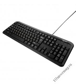 Клавиатура Gembird KB-8330U-BL, USB, черный,104 клавиши, кабель 1.5 метра