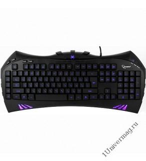 Клавиатура игровая Gembird KB-G100L, USB, черный, 104 клавиши+9 клавиш для создания макросов и храни