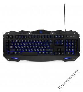 Клавиатура игровая Gembird KB-G200L, USB, черный, 105 клавиш+5 клавиш для создания макросов, подсвет