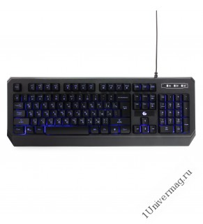 """Клавиатура игровая Gembird KB-G20L, USB, черный,синяя подсветка символов, код """"Survarium"""", 104 клави"""