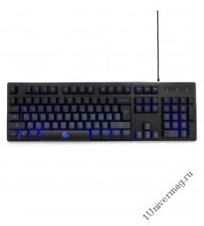 Клавиатура игровая Gembird KB-G400L, USB, черный, металлический корпус, 104 клавиши, подсветка 3 цве