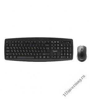 Комплект кл-ра+мышь беспров. Gembird KBS-8000, 2.4ГГц, черный, 104 клавиши+3 кнопки+колесо кнопка, 1