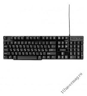 Клавиатура игровая Гарнизон GK-200G, USB, черный, антифантомные и механизированные клавиши, 12 допол