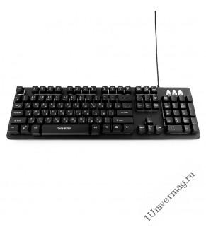 Клавиатура игровая Гарнизон GK-300G, металл, 3 различные подсветки, USB, черный, антифантомные и мех