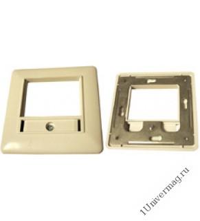 Рамка для внутренней розетки евростандарта с монтажной металлической рамкой. Размер: 80мм*80мм. Цвет