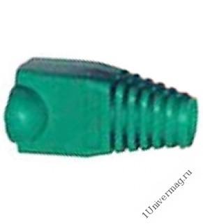 Колпачок RJ-45 изолирующий зеленый (100 шт.)