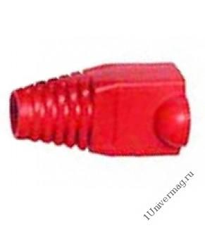 Колпачок RJ-45 изолирующий красный (100 шт.)