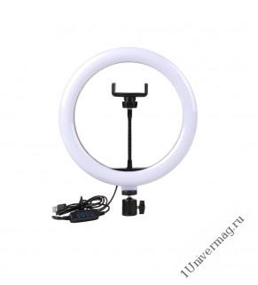 Кольцевая светодиодная лампа Pro Legend 26 см со штативом, пластик
