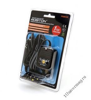 Адаптер/блок питания автомобильный ROBITON PN800S 800мА BL1