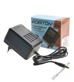 Адаптер/блок питания ROBITON AB9-800S (-) 5,5х2,1/12