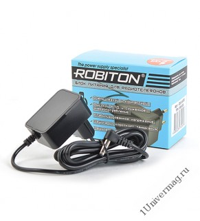 Адаптер/блок питания ROBITON ID5,5-500S угловой 4,8x1,7/15 (+)