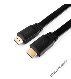 Кабель HDMI Gembird/Cablexpert CC-HDMI4F-10, 3м, v1.4, 19M/19M, плоский кабель, черный, позол.разъем
