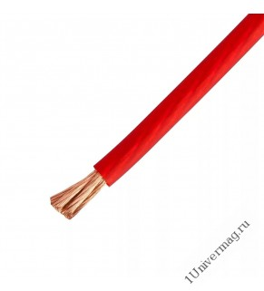 Авто силовой кабель Pro Legend, 6 мм (10 Ga), красный (катушка 50 метров), медь, Россия