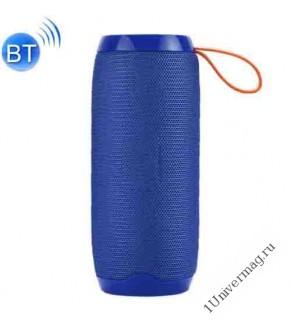 Портативная стерео Bluetooth колонка 5w*2, синяя
