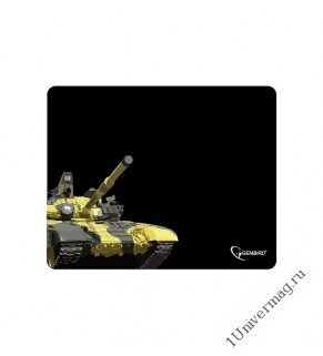 "Коврик для мыши Gembird MP-GAME10, рисунок- ""танк"", размеры 250*200*3мм, ткань+резина"