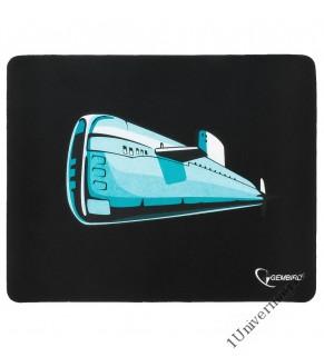 """Коврик для мыши Gembird MP-GAME7, рисунок- """"подводная лодка"""", размеры 250*200*3мм, ткань+резина"""