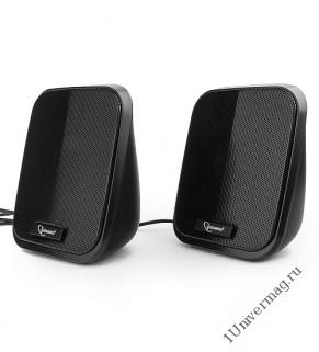 Акустическая система 2.0 Gembird SPK-100, черный, 6 Вт, регулятор громкости, USB-питание