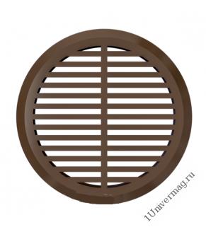 05ДП 1/4 кор, Решетка переточная круглая D50 с фланцем D45, 4 шт. коричневая