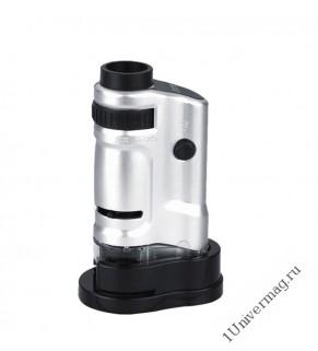 Микроскоп 20-40х карманный с подсветкой (PL4428)