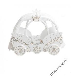 Игрушка детская кровать-карета Цвет белый
