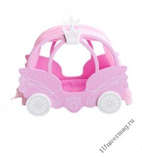 Игрушка детская кровать-карета Цвет розовый