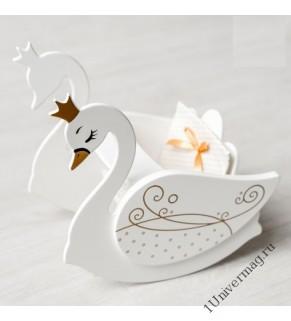 Игрушка детская лебедь(стул для кормления с качалкой), белыйый.