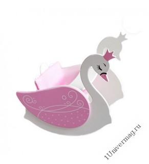 Игрушка детская лебедь(стул для кормления с качалкой),розовый.