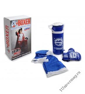 Боксерский набор боксерская груша 40 см, перчатки, шорты, накидка боксерская