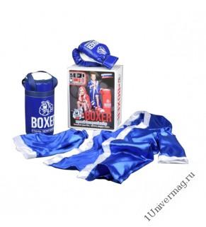 Боксерский набор боксерская груша 50см, перчатки, шорты, накидка боксерская