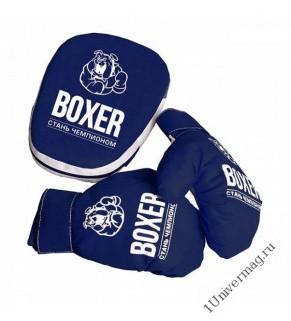 Боксерский набор лапа и перчатки текстиль