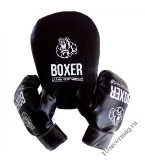 Боксерский набор лапа и перчатки экокожа