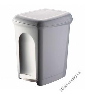 Контейнер для мусора педальный 7л (светло-серый)